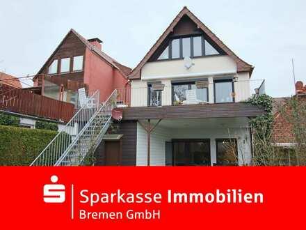 Wundervolle Stadtoase mit Seltenheitswert in Vegesack - Zweifamilienhaus in begehrter Wohnlage