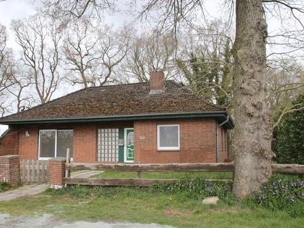 Geestland-Lintig: Bungalow + Ausbaupotential, Tiefgarage, Garten, Keller, idyllische Lage, Obj. 5118