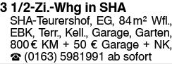 3 1/2-Zi.-Whg in SHA
