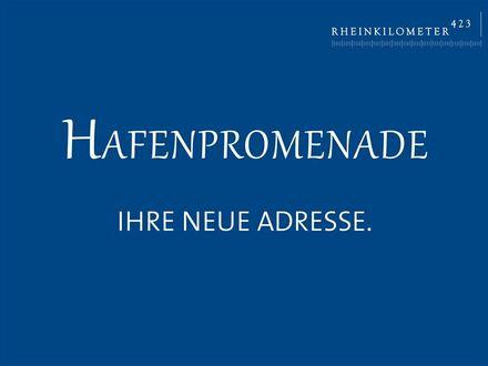 Adrettes Wohnen am Rheinufer Süd: großzügiges Zuhause mit Süd-Balkon