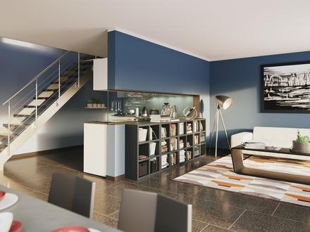 Geräumige Dachgeschosswohnung auf zwei Etagen Mitten in Stadtbergen!