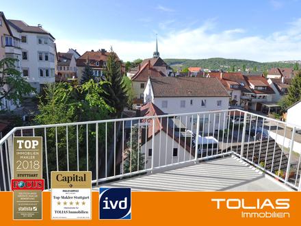 Lebenslust - Reizende Maisonette-Wohnung mit neuer, offener Wohnküche, Süd-Balkon und PKW-Stellplatz