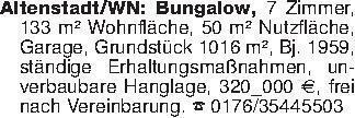 Altenstadt/WN: Bungalow, 7 Zi...
