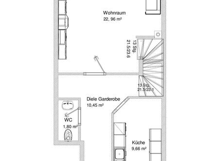 4 Zimmer-Maisonette in kleinem Wohnhaus