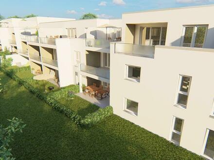 **Baustart bereits erfolgt**SELTENE GELEGENHEIT, 2 Zimmer mit kleinem Garten und Terrasse**