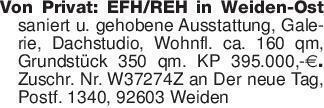 Von Privat: EFH/REH in Weiden-...
