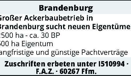 Brandenburg – Großer Ackerbaubetrieb