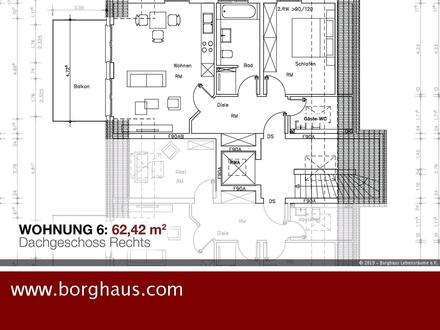 Neubau am Kanal: 2 Zimmer DG + Balkon