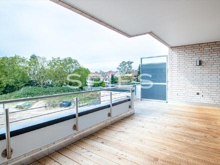Neubau/Erstbezug im Mühlenviertel: Moderne und helle 3-Zimmer-Wohnung mit Dachterrasse