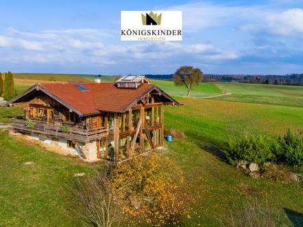 Baumstammblockhaus mit großzügigem Grundstück in ruhiger Lage!