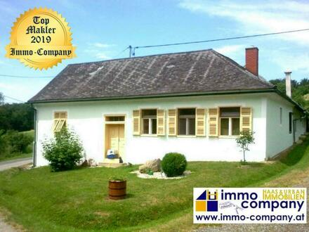 Bauernhaus mit Fernblick – ca. 110m² Wohnfläche – ca. 7.900m² Grundfläche Wunderschöne, absolut ruhige Lage, östlich von…