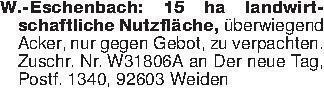 W.-Eschenbach: 15 ha landwirts...