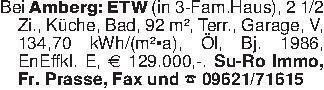 Bei Amberg: ETW (in 3-Fam.Haus...