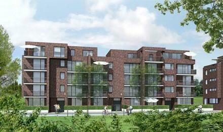 Helle Drei-Zimmer Wohnung mit Balkon und Küche am Stadtwerder