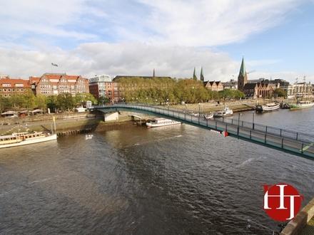 Teerhof – möblierte Wohnung mit Weserblick und Tiefgaragenstellplatz!