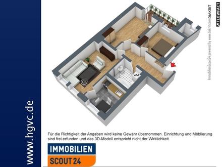 TOP Lage - 3 Zimmer WE, Südbalkon, Bad mit Dusche und Wanne, Pkw-Stellpl.!