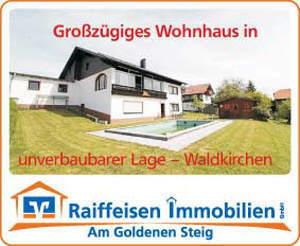 Gepflegtes, großzügiges Ein/Zweifamilienhaus in herrlicher Aussichtslage in Waldkirchen Sackgasse