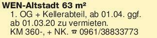WEN-Altstadt 63 m² 1. OG + Ke...