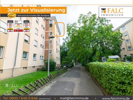 PROVISIONSFREI! Ruhige 3-Zimmer-Wohnung in Mannheim-Herzogenried mit schönem Ausblick