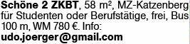 2-Zimmer Mietwohnung in Mainz (55126)