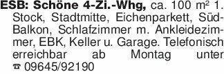 ESB: Schöne 4-Zi.-Whg, ca. 100...