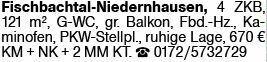 4-Zimmer Mietwohnung in Fischbachtal-Niedernhausen (64405)