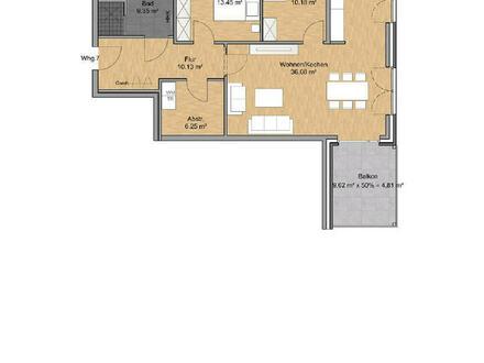 Neubauprojekt: Klasse Wohnung im OG