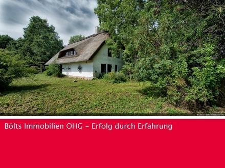 Reetdachanwesen mit Ländereien in sehr guter Lage von Gnarrenburg