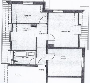 3 ZKB 62 m² 01.06. 550,- zzgl. Neusäß, sehr gute u. schöne Lage, Nähe Klinikum,...