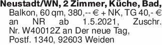 Neustadt/WN, 2 Zimmer, Küche,...