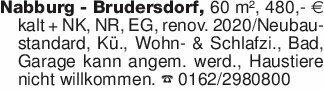 Nabburg - Brudersdorf, 60 m²,...