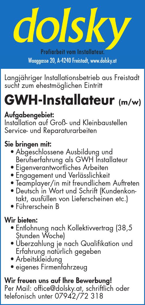 Aufgabengebiet: Installation auf Groß- und Kleinbaustellen Service- und Reparaturarbeiten