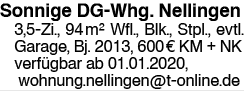 Sonnige 3,5 Zi-Whg. Nellingen