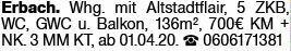 4-Zimmer Mietwohnung in Erbach (64711)