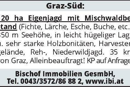 Graz-Süd: 120 ha Eigenjag