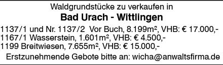 Wohnen in Bad Urach (72584)