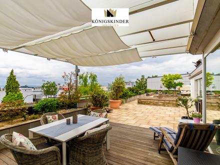 Wunderschöne, sehr helle Penthousewohnung mit großer Dachterrasse und Doppelgarage in ruhiger Lage!