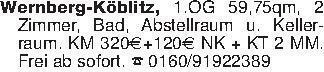 Wernberg-Köblitz, 1.OG 59,75qm...