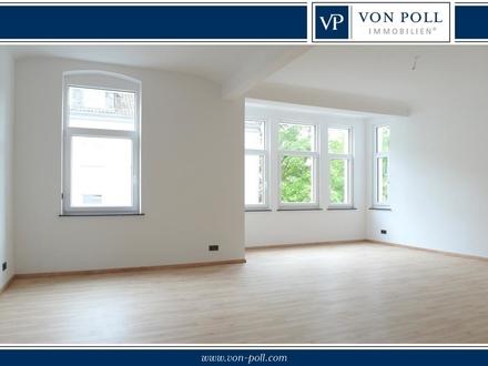 Bielefeld-Mitte: 147 m² sanierte 4 Zimmer-Altbauwohnung mit Balkon und Stellplatz!