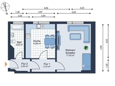 verfügbar ab Oktober - Kleine Eigentumswohnung in der Südstadt