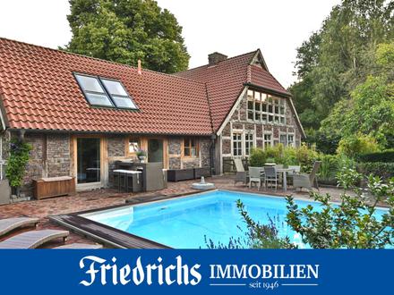 Traumhaftes Landhausanwesen mit Außenpool, Reitplatz und herrlichem Parkgrundstück in Dötlingen