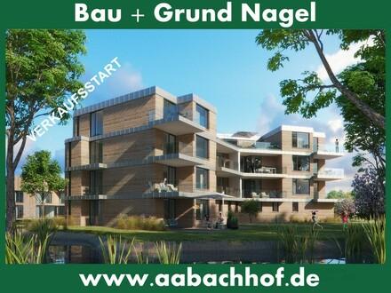Verkaufsstart! Unser Objekt des Jahres - Exklusive Neubauwohnungen mit Aufzug in der grünen Stadtoase Aabachhof