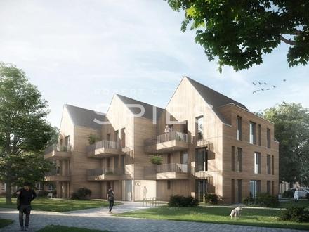 Kastanienhof: Moderne 1-Zimmer-Neubauwohnung mit Terrasse