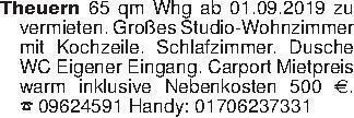 Theuern 65 qm Whg ab 01.09.201...