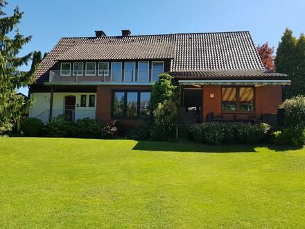 Idyllische Grundstückslage - toller Blick ins Weserbergland