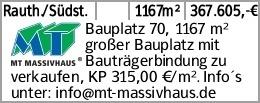 Rauth./Südst. 1167m² 367.605,-€ Bauplatz 70, 1167 m² großer Bauplatz...