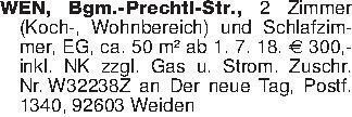 WEN, Bgm.-Prechtl-Str., 2 Zimm...