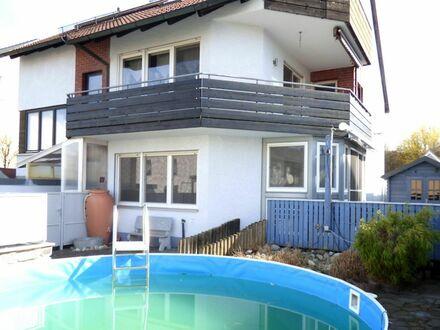 SOFORT freie 1 3 5 qm TERRASSEN- Wohnung mit eigenem POOL + WINTERGARTEN + KAMIN Ofen + GARAGE