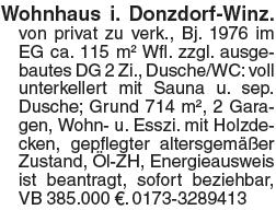 Wohnhaus in Donzdorf-Winz