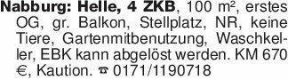 Nabburg: Helle, 4 ZKB, 100 m²,...
